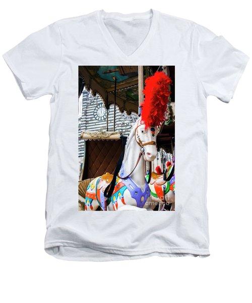 Merry-go-round Men's V-Neck T-Shirt by Ana Mireles