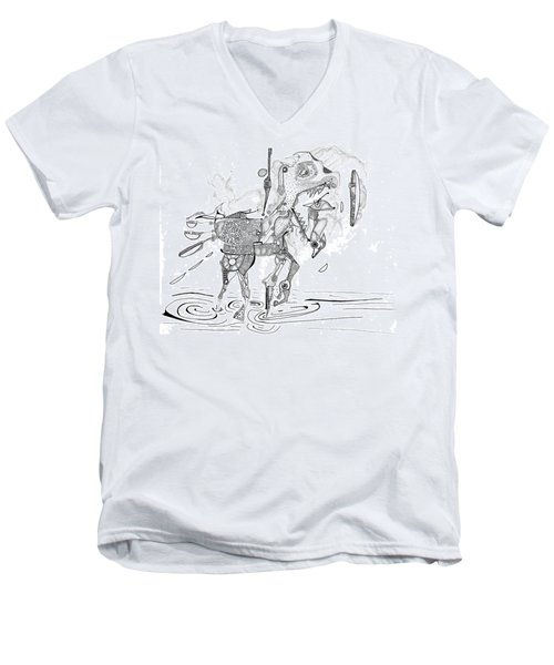Merry-go-round Horse Men's V-Neck T-Shirt