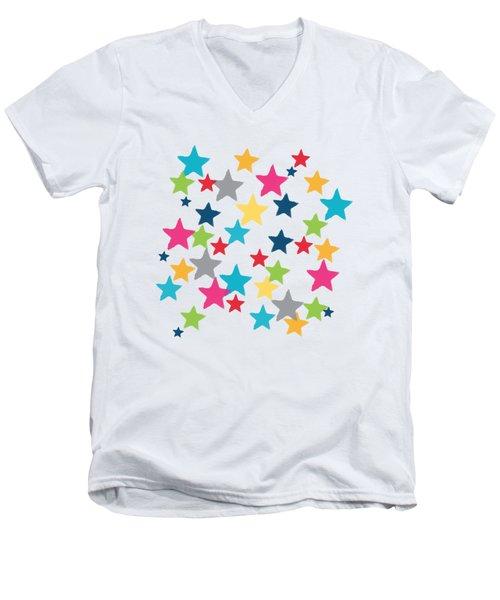 Messy Stars- Shirt Men's V-Neck T-Shirt