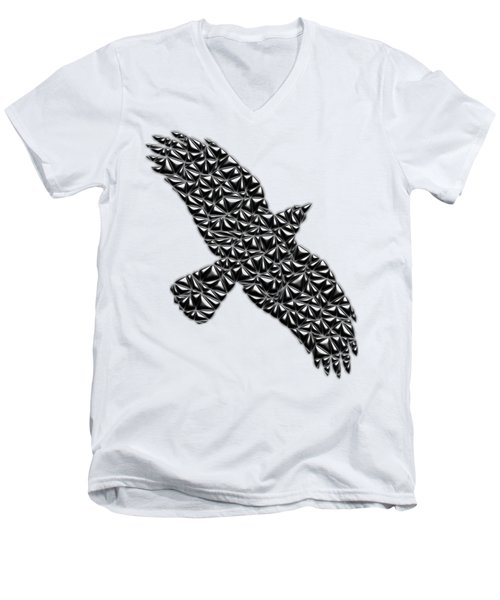 Metallic Crow Men's V-Neck T-Shirt