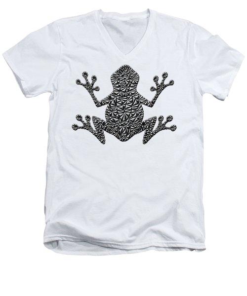 Metallic Frog Men's V-Neck T-Shirt