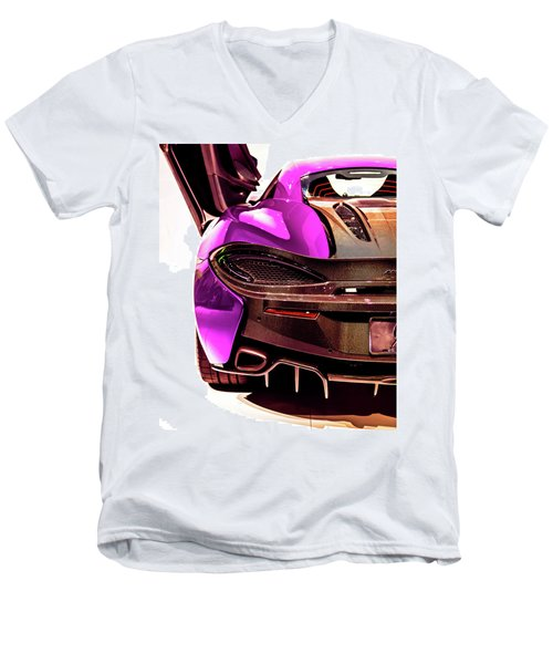 Metallic Heartbeat Men's V-Neck T-Shirt by Karen Wiles