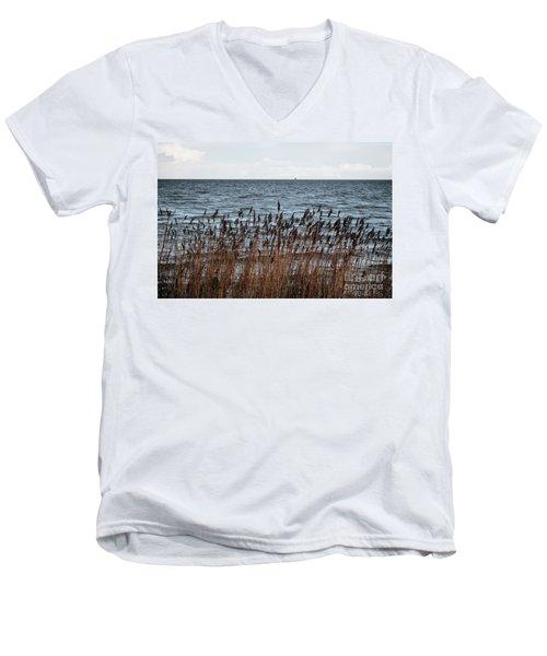 Metallic Sea Men's V-Neck T-Shirt by Ana Mireles