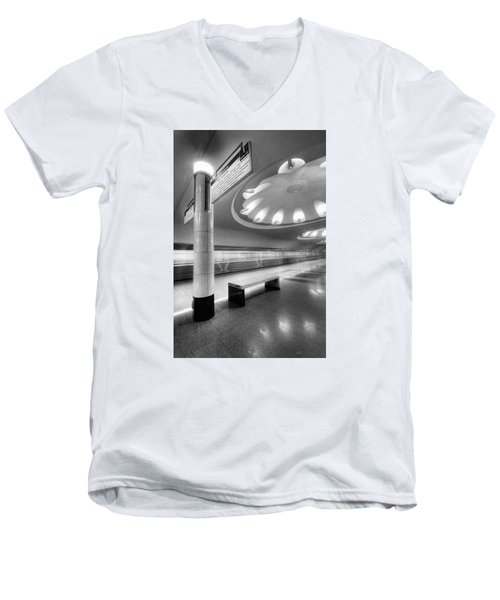 Metro #1591 Men's V-Neck T-Shirt by Andrey Godyaykin