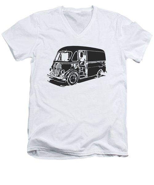 Metro Step Van Tee Men's V-Neck T-Shirt