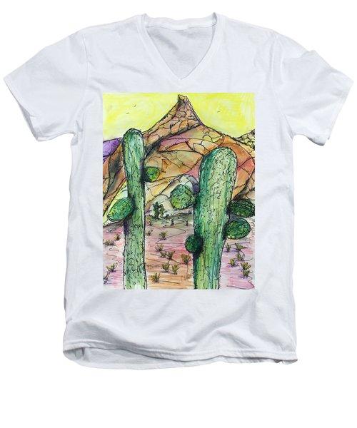 Mexican Desert Men's V-Neck T-Shirt