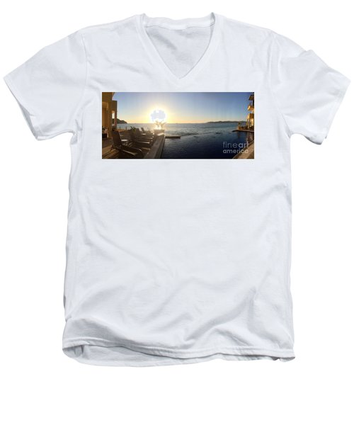Men's V-Neck T-Shirt featuring the photograph Mexico Memories 6 by Victor K
