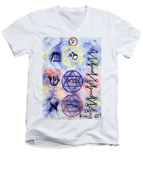 Mi Bara Elay Men's V-Neck T-Shirt by Luke Galutia