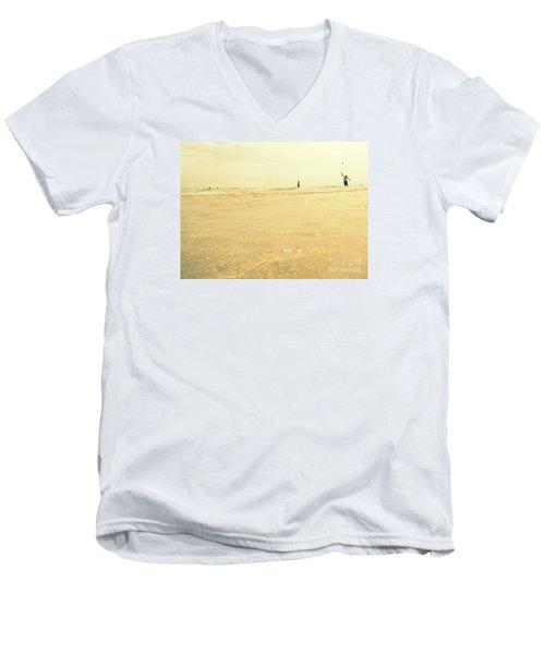 Miami Beach 2 Men's V-Neck T-Shirt by France Laliberte