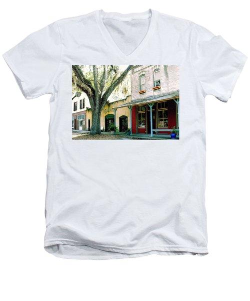 Micanopy Storefronts Men's V-Neck T-Shirt
