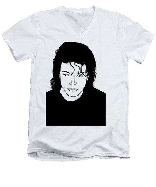 Michael Jackson Men's V-Neck T-Shirt by Lionel B