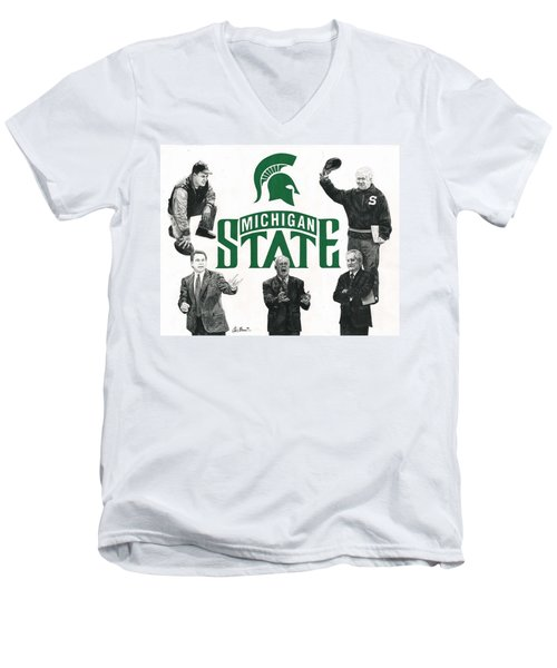 Michigan State Coaching Legends Men's V-Neck T-Shirt