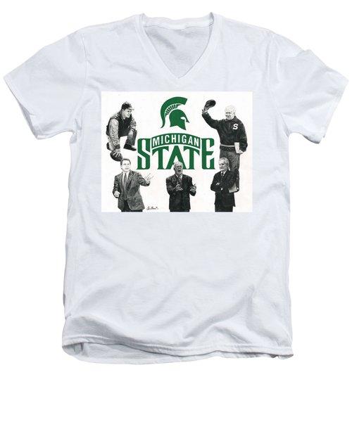 Michigan State Coaching Legends Men's V-Neck T-Shirt