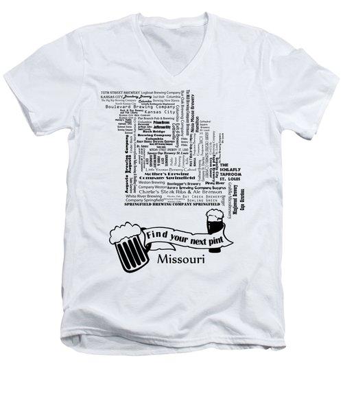 Micro Brew Missouri Men's V-Neck T-Shirt