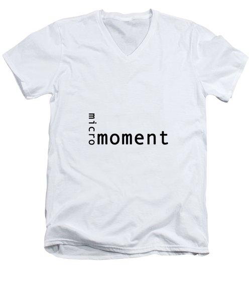 Micro Moment Men's V-Neck T-Shirt