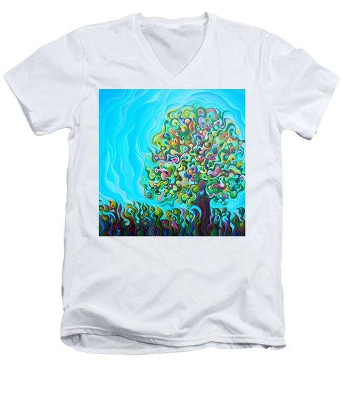Mid-summer Tree Breath Men's V-Neck T-Shirt