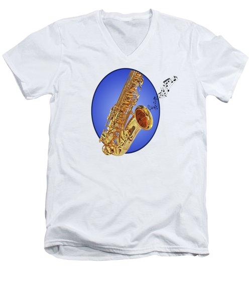 Midnight Blues Men's V-Neck T-Shirt