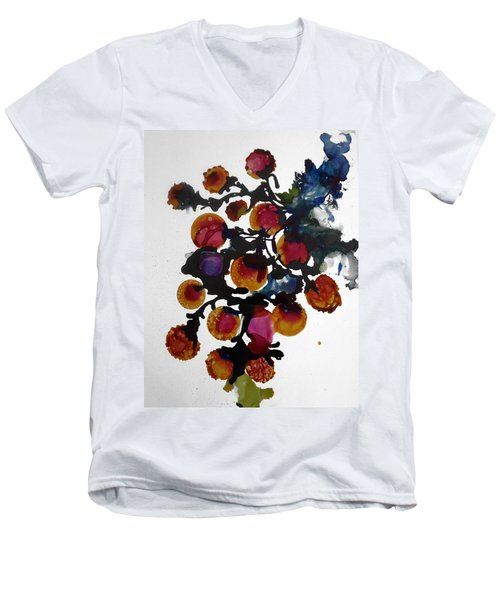Midnight Magiic Bloom-1 Men's V-Neck T-Shirt by Alika Kumar