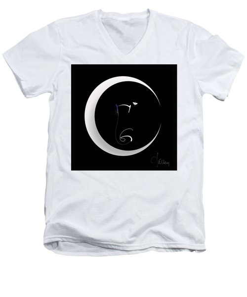 Moonlight Rendezvous 2 Men's V-Neck T-Shirt