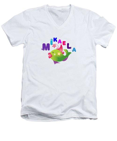 Mikaela Tshirt Size 4 Men's V-Neck T-Shirt