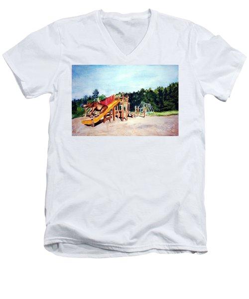 Mildred Goes Down The Slide Men's V-Neck T-Shirt