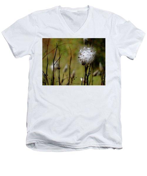 Milkweed In A Field Men's V-Neck T-Shirt