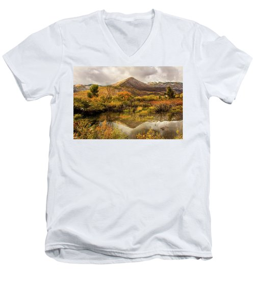 Mill Canyon Peak Reflections Men's V-Neck T-Shirt