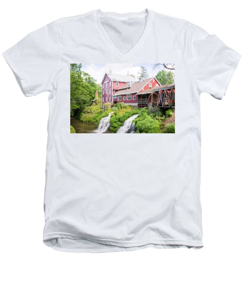 Mill Water Falls Hdr Men's V-Neck T-Shirt