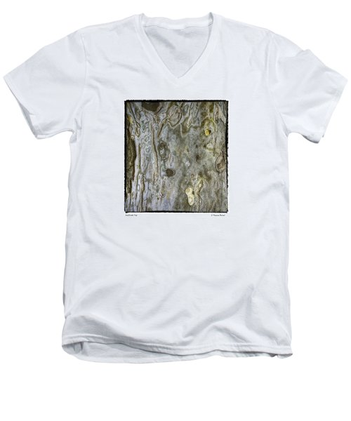 Men's V-Neck T-Shirt featuring the photograph Millbrook Tree by R Thomas Berner