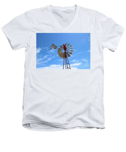 Men's V-Neck T-Shirt featuring the photograph Milled Wind by Stephen Mitchell