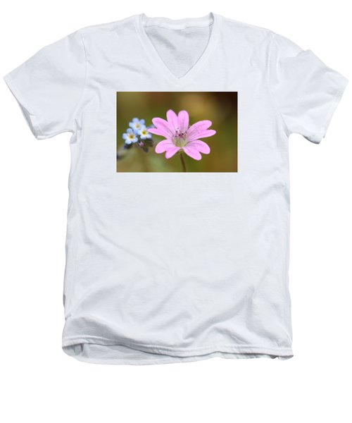 Men's V-Neck T-Shirt featuring the photograph Minature World by Richard Patmore