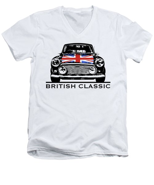 Mini British Classic Men's V-Neck T-Shirt