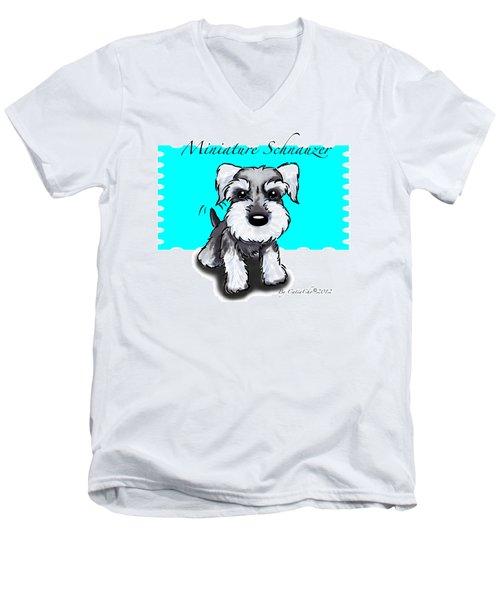 Miniature Schnauzer Men's V-Neck T-Shirt by Catia Cho