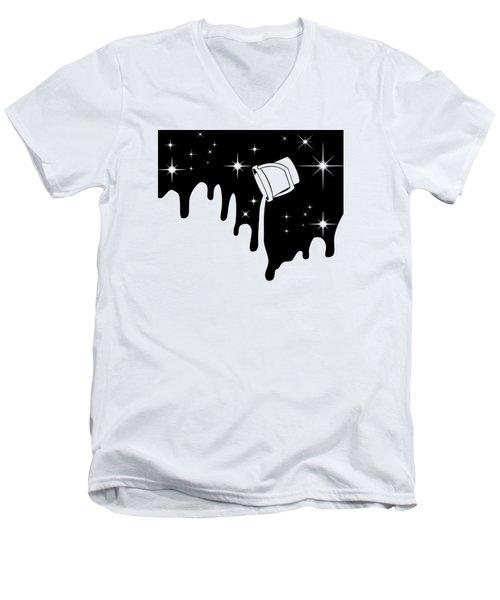 Minimal  Men's V-Neck T-Shirt by Mark Ashkenazi