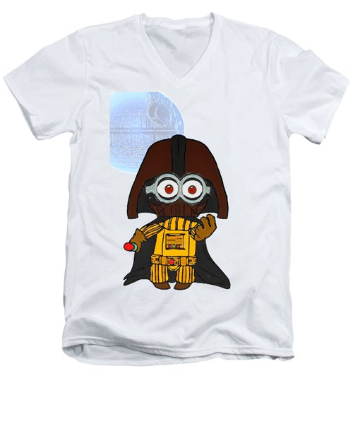 Minion Vader Men's V-Neck T-Shirt