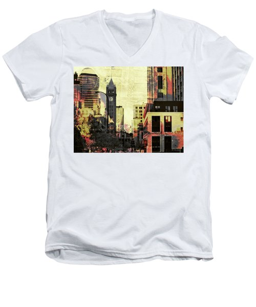 Minneapolis Clock Tower Men's V-Neck T-Shirt