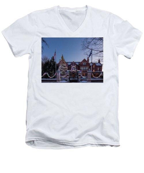 Christmas Lights Series #6 - Minnesota Governor's Mansion Men's V-Neck T-Shirt