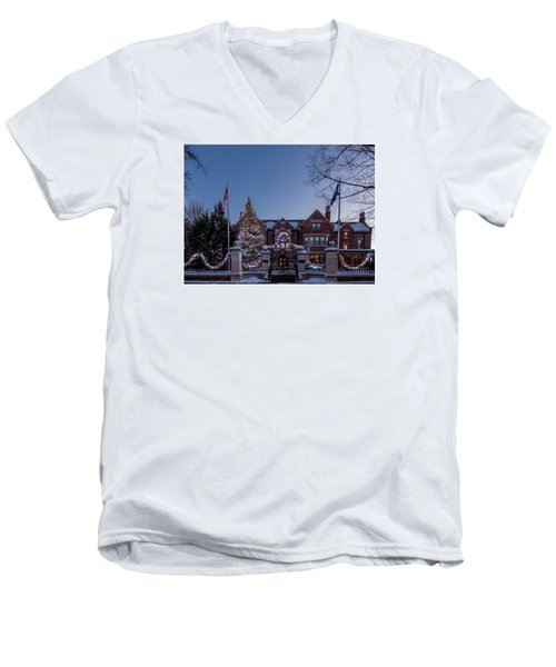 Christmas Lights Series #6 - Minnesota Governor's Mansion Men's V-Neck T-Shirt