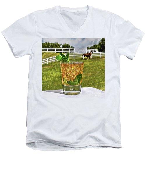 Mint Julep Kentucky Derby Men's V-Neck T-Shirt