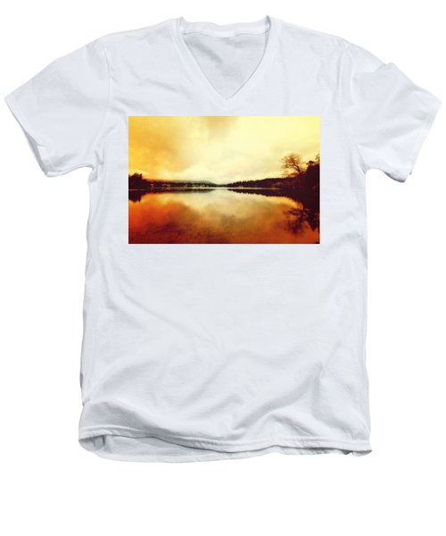 Mirror Lake At Sunset Men's V-Neck T-Shirt
