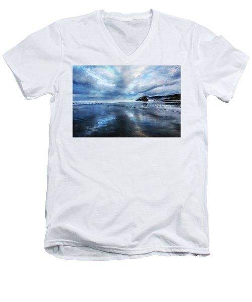 Men's V-Neck T-Shirt featuring the photograph Mirror Of Light by Debra and Dave Vanderlaan