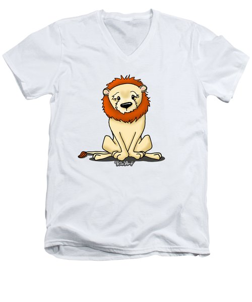 Lion Peaceful Reflection  Men's V-Neck T-Shirt