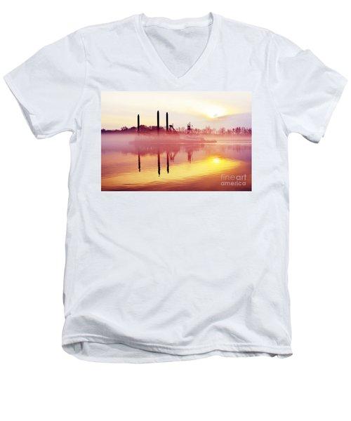 Mirrors - Delaware River Series Men's V-Neck T-Shirt