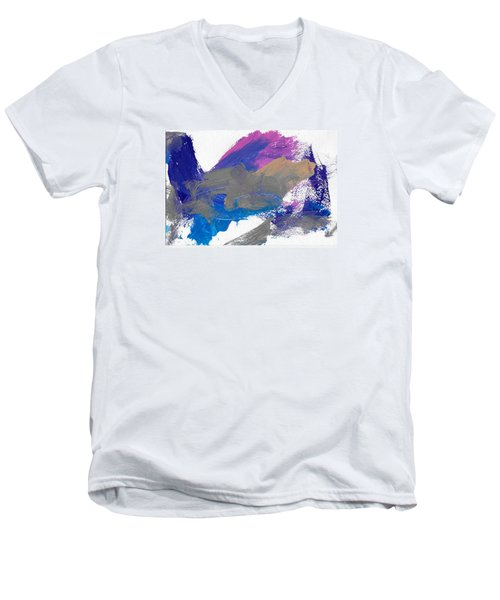 Miss Emma's Abstract Men's V-Neck T-Shirt by Fred Wilson