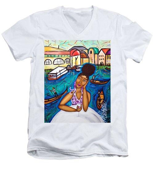 Missing Venice Men's V-Neck T-Shirt
