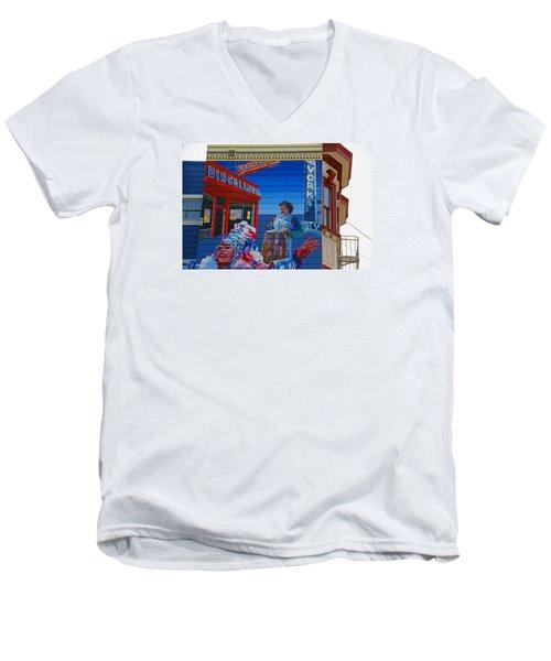@mission District Sf Men's V-Neck T-Shirt