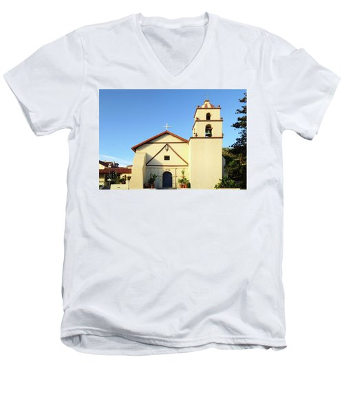 Mission San Buenaventura, Ventura, California Men's V-Neck T-Shirt