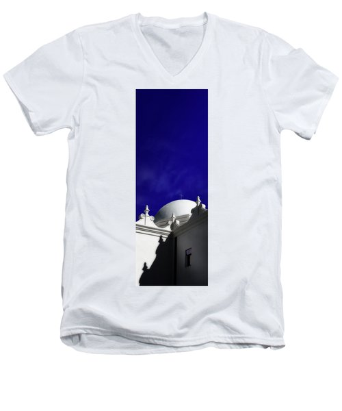 Mission San Xavier Del Bac Men's V-Neck T-Shirt by Gary Warnimont