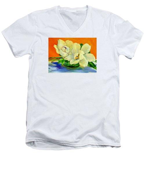 Mississippi Magnolias Men's V-Neck T-Shirt