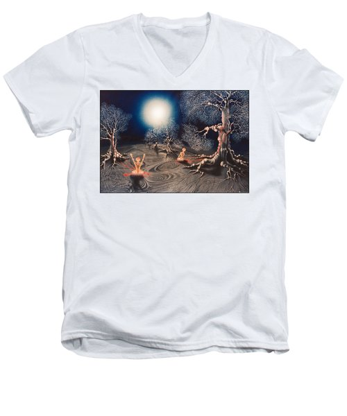 Mistery Of Cosmic Obsession Men's V-Neck T-Shirt